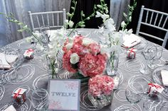 Love the coral hydrangea for a wedding, shower, even a special anniversary!