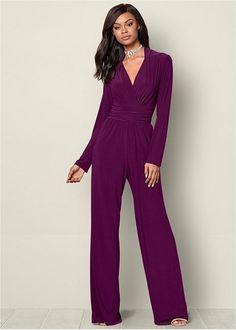 36af24a03748 Venus Women s Waist Detail Jumpsuit Jumpsuits   Rompers - Purple