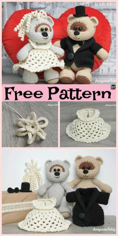 Sweet Crochet Teddy Bear – Free Patterns #freecrochetpatterns #teddybear #giftidea