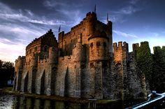 Gravensteen Castle  Located in Ghent, Belgium, the present castle was built in 1180.