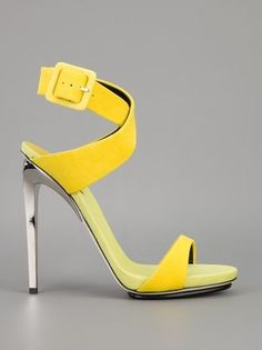 The World Through Fashion,Giuseppe Zanotti Design Shoes Boots have a long canal and keep us nice and hot in fall and winter. They may be level or have a higher heel, end in fro. Giuseppe Zanotti Design, Giuseppe Zanotti Heels, Zanotti Shoes, Dream Shoes, Crazy Shoes, Me Too Shoes, Yellow Sandals, Yellow Shoes, Neon Yellow