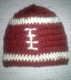 Football hat for a baby boy