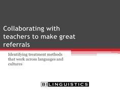 Collaborating With Teachers To Make Great Referrals - Speech Therapy - Spanish Speech Therapy - SLP