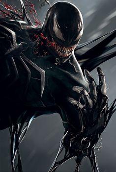 Who is the fittest super hero in marvel cinematic universe. Venom Spiderman, Marvel Venom, Spiderman Art, Mcu Marvel, Venom Comics, Marvel Comics Art, Marvel Heroes, Art Venom, Venom Tattoo