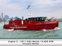 Chicago Fire Department fire boat.  Joined the 5-11 Club group ride on Lake Michigan as part of their 60th Anniversary celebration in 2013.