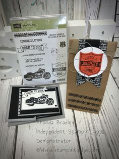 Stampin up One wild ride z fold gift card