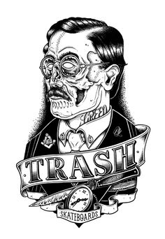 trash by Philipp Lemm, via Behance