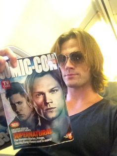 Jared  Padalecki  reading up on a great subject