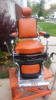 Superb ... CHAIRS$$$$$ : ) Antique Barber Chair Restoration Chrome Porcelain  Upholstry Parts Repair Vintage Koken, Theo A Kochsu2026 | Antique Barber Chairs  | Pinteu2026