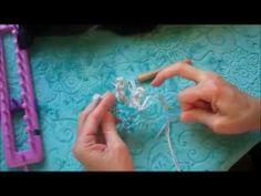 Loom Knitting Picot Starfish - YouTube