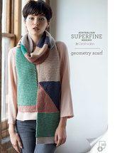 geometry, scarf, 8 ply, pattern, superfine, merino, Cleckheaton