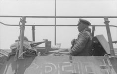 North Africa, Field Marshal Erwin Rommel in the light armoured infantry carrier, Sd. Mg 34, Luftwaffe, Radios, Afrika Corps, North African Campaign, Erwin Rommel, Field Marshal, Ww2 Photos, Chenille