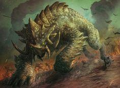"""Siege Behemoth"" by Jason Engle | Magic : The Gathering : Commander | #Fantasy #Monsters"