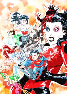 JUSTICE LEAGUE #39 by Dustin Nguyen and CV Painting