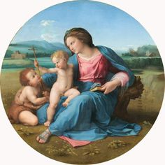 Raphael c.1510 - Mary with Jesus and John the Baptist.