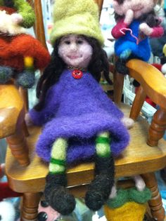 Felted Siena-a shoe kid by Stickit Chix.