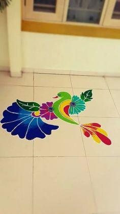 what is rangoli? Rangoli Patterns, Rangoli Ideas, Rangoli Designs Diwali, Diwali Rangoli, Rangoli 2017, Diwali Craft, Peacock Rangoli, Indian Rangoli, Flower Rangoli