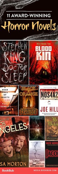 11 award-winning horror books. If you're looking for something scary, we've got just the thing!