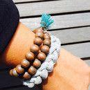 Armbänder - Conscious Armband Grau - ein Designerstück von Superschnixe2 bei DaWanda