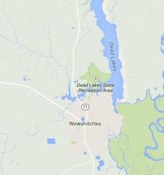 dead lakes florida map