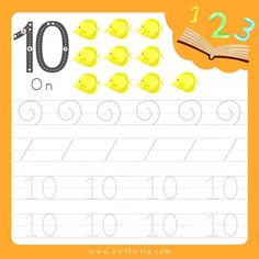 Worksheet writing practice number ten an. Preschool Math, Preschool Worksheets, Arabic Alphabet Letters, Number Tracing, Handwriting Practice, Number Two, Activities For Kids, Teaching, Animals