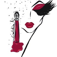 Lipgloss madness… #illustration #fashionillustration #style#fashionista#makeup#makeupartist #