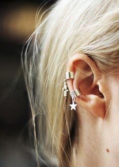 Simple silver ear-cuffs!