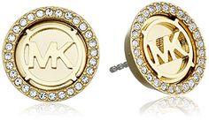 Michael Kors Gold Tone Stud Earrings - http://www.womansindex.com/michael-kors-gold-tone-stud-earrings/