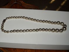 Vintage Sterling Silver - MEXICO Graduated Bead 59g - Necklace 19""