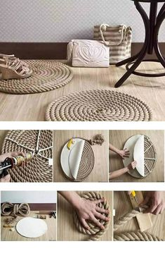 DIY rope crafts are all over the internet look marvelous. Explore and read through the best rope crafts and choose to take up one fun project now. Diy Crafts For Home Decor, Diy Crafts To Sell, Diy Room Decor, Gift Crafts, Outdoor Crafts, Card Crafts, Upcycled Crafts, Diy Simple, Easy Diy