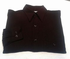 Pal Zileri of Italy- Brown Check Fashion Shirt- size M