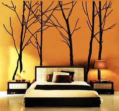Tree Wall Decal Forest Vinyl Sticker Large Nursery Wall Decal 94 Wall decals are currently one of the hottest trends in home decor. House Design, Beautiful Wall, Home Projects, Interior, Nursery Walls, Tree Wall Decal, Home Decor, Tree Wall, Wall Decor Decals