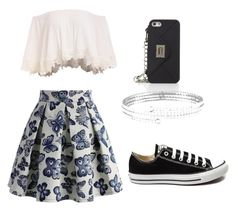 """""""Untitled #9"""" by maddy-jennings on Polyvore featuring Chicwish, BCBGMAXAZRIA, Lisa Freede and Converse"""