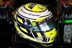 A very special #F1 helmet design for @JensonButton this weekend
