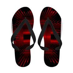 Red Summer Flip Flops