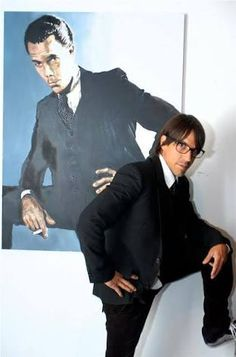 Anthony Kiedis with portrait of father, Blackie Dammett Anthony Kiedis, John Frusciante, Hottest Chili Pepper, Hbo Series, Hot Couples, Forever, Sexy Men, Eye Candy, Celebs