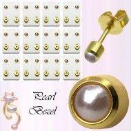 Wholesale Body Jewelry Gold Plated Pearl Bezel Body Jewelry ES5 Wholesale Body Jewelry, Gold Jewelry, Plating, Calendar, Pearls, Holiday Decor, Earrings, Ear Rings, Stud Earrings