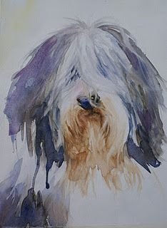 """""""Bailey"""" watercolour by Corinne."""