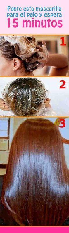 Ponte esta mascarilla para el pelo y espera 15 minutos – Los efectos te encantarán