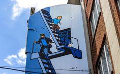 Teil der #Comic #Strip #Tour in #Brüssel © shutterstock