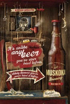 Muskoka Beer: Mad Tom | #ads #marketing #creative #werbung #print #poster #advertising #campaign < repinned by www.BlickeDeeler.de | Follow us on www.facebook.com/blickedeeler