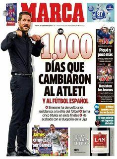 ANIVERSARIO DE LOS 1000 DÍAS DEL CHOLO AL FRENTE DEL ATLETICO DE MADRID.