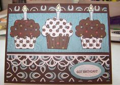 SU Crazy For Cupcakes Birthday Card by laurakay - Cards and Paper Crafts at Splitcoaststampers