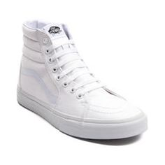 5c369d24a6 Vans Sk8 Hi Skate Shoe White High Tops