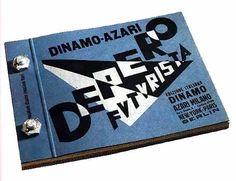 """""""Depero the Futurist"""" 1927.  Book bound with two bolts.   This book is a first-hand account of the Futurist Fortunato Depero's (1892-1960) approach to Futurism until 1927. It featured for the first time a mechanical binding consisting of two bolts holding the pages together."""