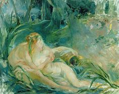 Jupiter and Callisto, after a painting by Boucher (late 19th century) by Berthe Morisot