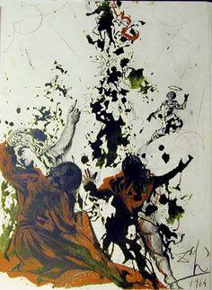 Iesu transfigurato (Mark 9:4f), 1964 by Salvador Dali. Abstract Expressionism, Symbolism. religious painting
