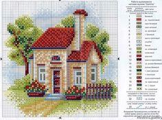 Dos gráficos de unas casitas muy sencillas y acogedoras
