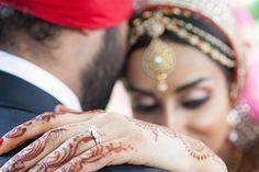 Sikh Wedding, Wedding Ring, Pink Sari