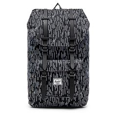 Herschel Supply Co. Little America Bags ($100) ❤ liked on Polyvore featuring bags, handbags, zip bags, herschel supply co., black laptop bag, padded bag and flap purse
